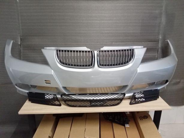 Pachet Bara fata BMW E90 E91 + Grile VOPSITA orice culoare 2005-2008