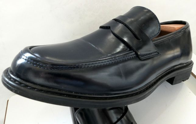 Pantofi loafers BTM 43 piele naturala efect lac