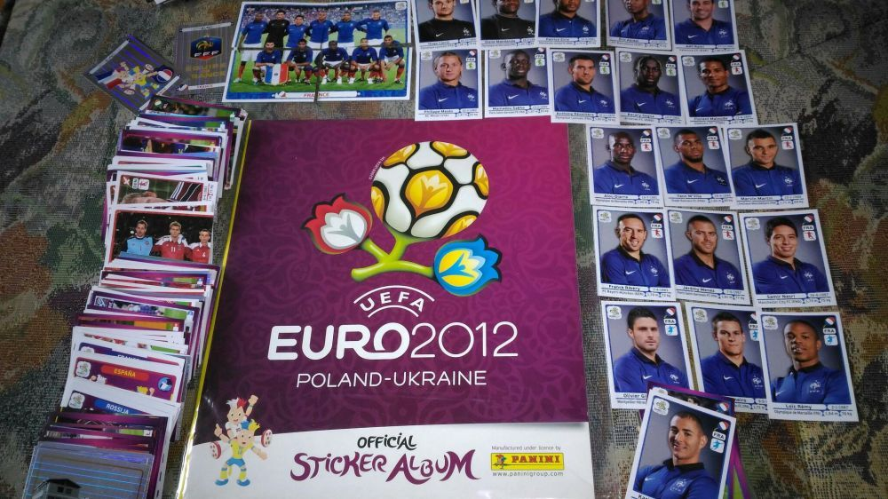 Panini album gol euro 2012 si set complet nelipit Polonia Ukraina