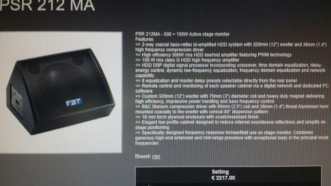 Monitor digital FBT PSR 212ma.