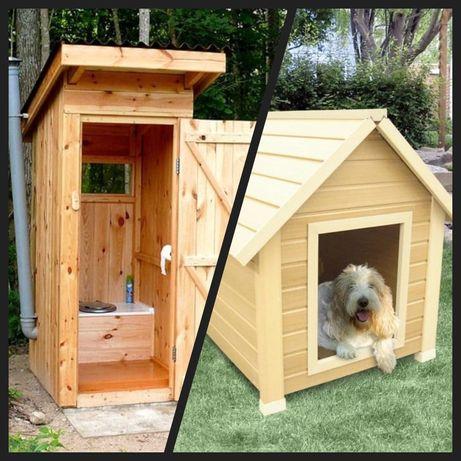 Туалеты Будки для собак Штакетник