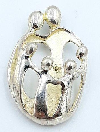 Superb pandantiv vintage din argint model deosebit !