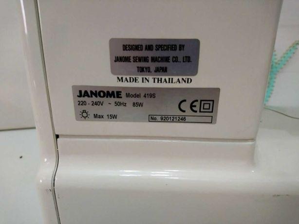 Швейная машинка Janome 419S с ножным приводом