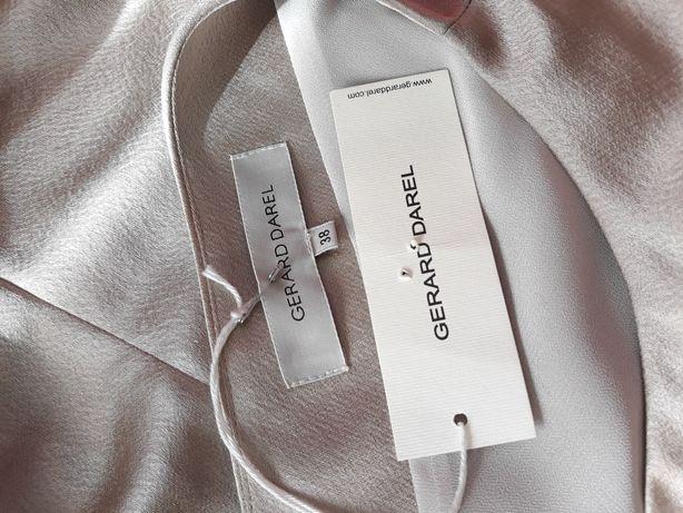 Rochie de ocazie Gerard Darel M, nude, satinată, cu etichetă