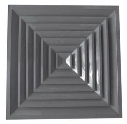 Диффузор алюминиевый потолочный 4-АПР с КРВ анемостаты квадратные