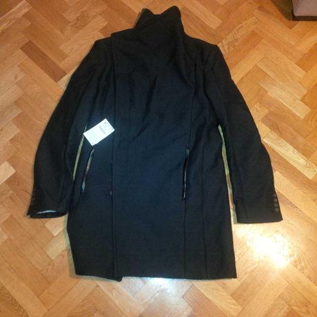 Palton sau pardesiu modern Zara, bleumarin, marime M.