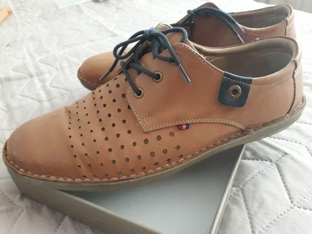 Pantofi piele naturala, de vara