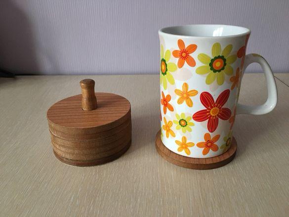 Дървени подложки за чаши