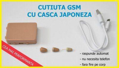 Casca Japoneza + Cutie Gsm Fara Telefon la Dumneavoastră!