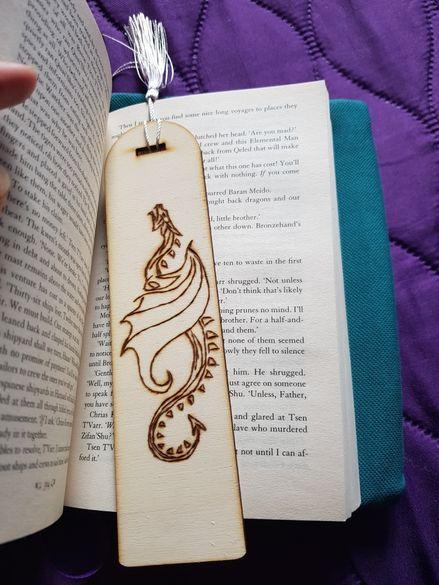 Handmade Ръчно рисувани с пирограф лъжица, книгоразделител