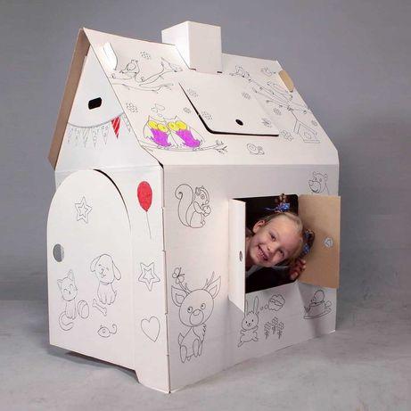 Картонный домик раскраска для детей Развивающие игрушки