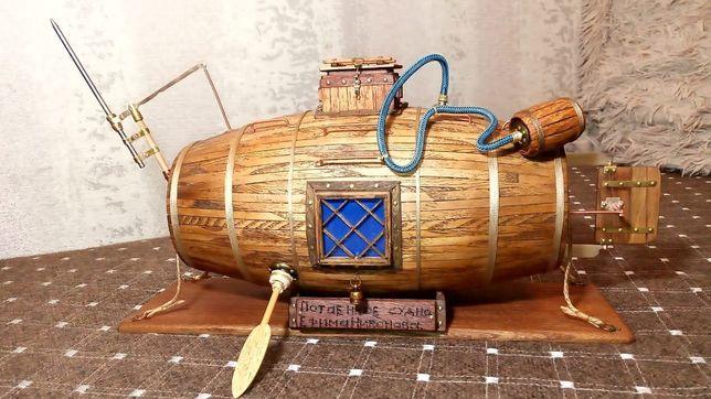 Продам деревянную модель 1й подводной лодки