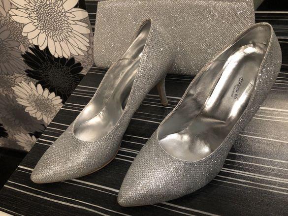 Обувки + дамска чантичка / комплект/