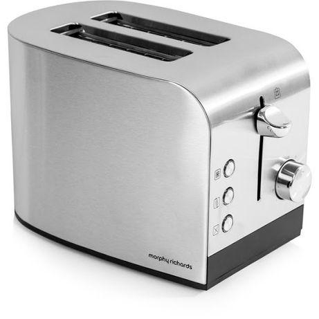 Тостер за 2 филии хляб MORPHY RICHARDS 44208, 850W, ИНОКС