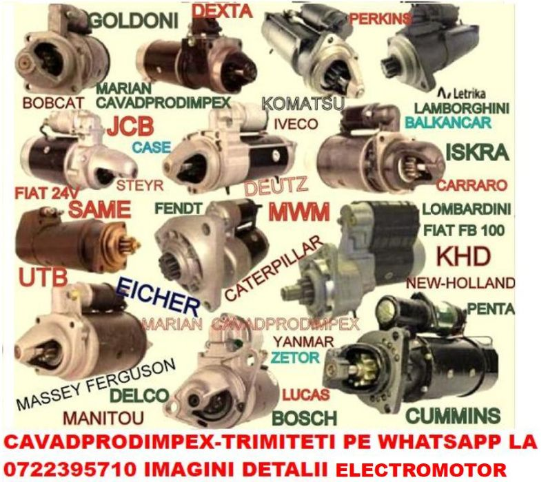 Electromotor NOU pentru tractor,buldoexcavator,stivuitor,utilaje . Bucuresti - imagine 1