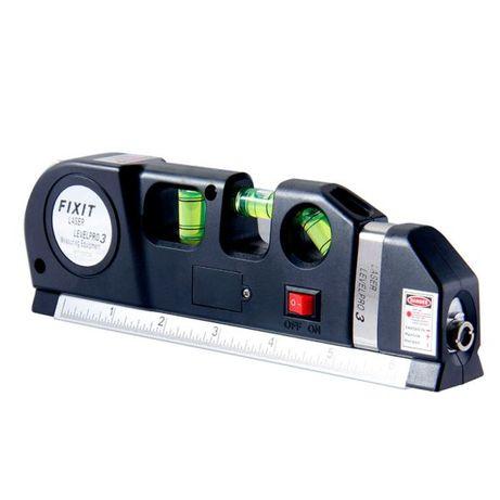 Лазерная линейка-нивелир уровень 19 см с рулеткой 2,5 м