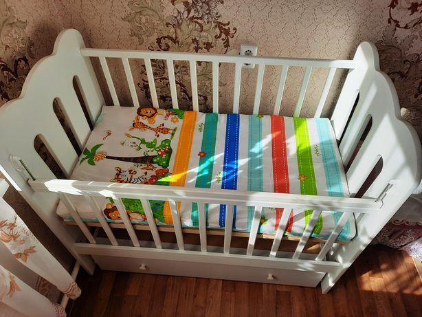 Детский кровать с матрасом