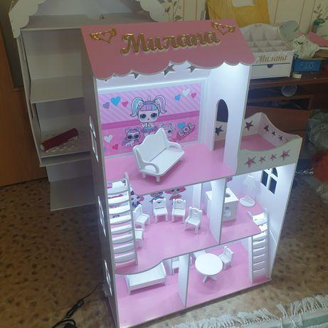 Кукольный домик   для девочек с подсветкой.
