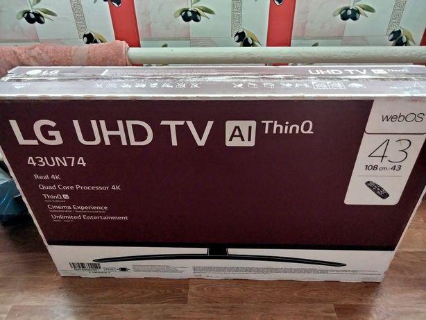 LG телевизор 4K 108 cm