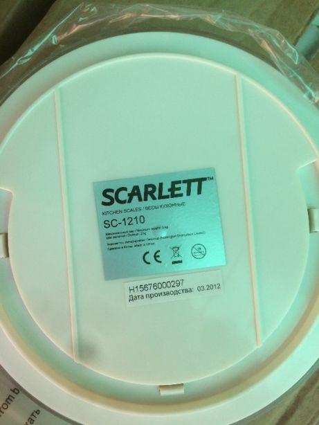 Кухонные весы с чашей Scarlett SC-1210 (Механические)
