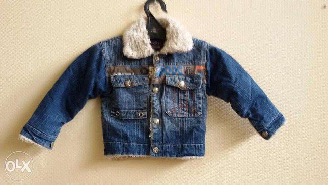джинсовая утепленная куртка р.32