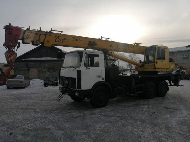 услуги автокрана 25 тонн 28 метров