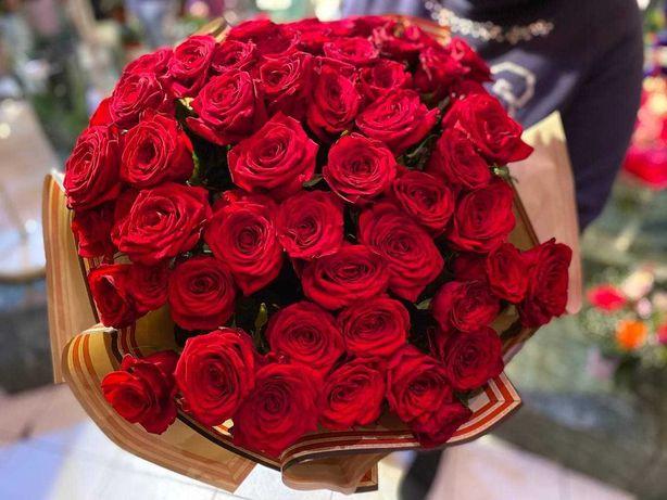 Букет роз из 51-й розы по АКЦИИ! 29.990₸ / Букеты / Доставка цветов 40