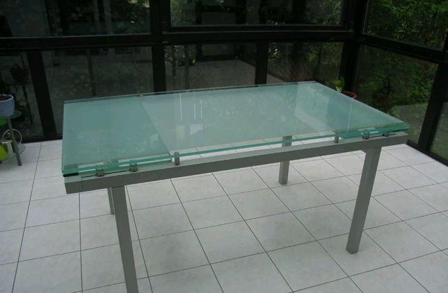 Masa din sticlă , extensibilă, ca si nouă- Sibiu