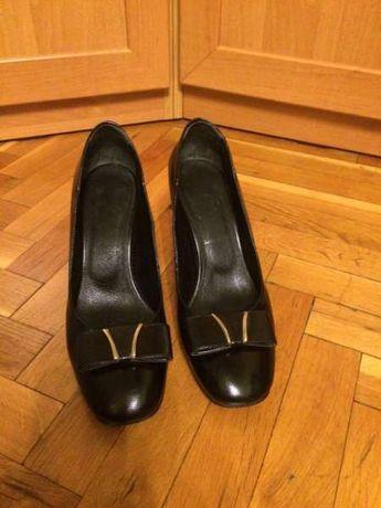 Дамски черни кожени обувки Barracuda номер 40