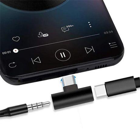 Переходники для наушников Type-C 2в1 iPhone Lightning адаптер миниджек
