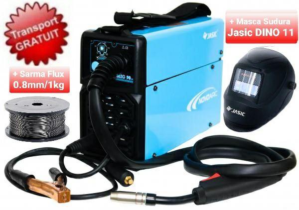 Pachet complet sudura fara gaz JASIC Novo Mig130-Aparat sudura MIG-MAG