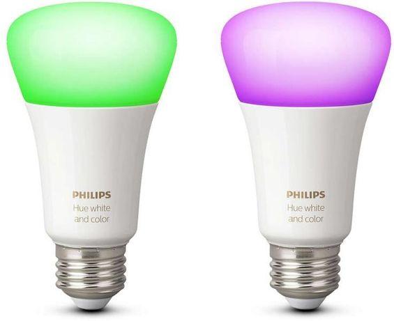 Philips Hue Стартов Комплект 2 LED Крушки RGB E27 9W Bridge Рутер
