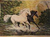 Гоблен коне в галоп