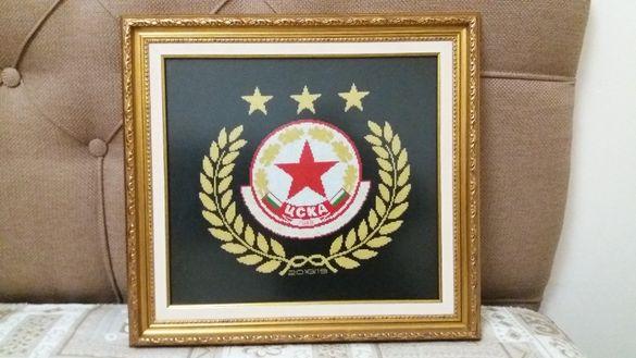 Гоблен с емблемата на ЦСКА