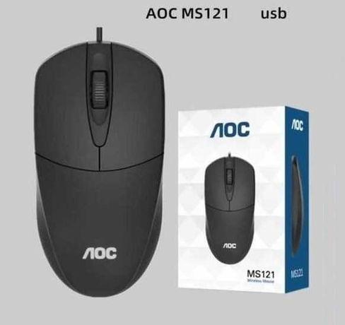 Мышка, мышь, мышка, проводная AOC MS121, USB,