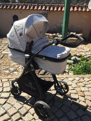 LORELLI PREMIUM Комбинирана количка 2в1 STARLIGHT сива