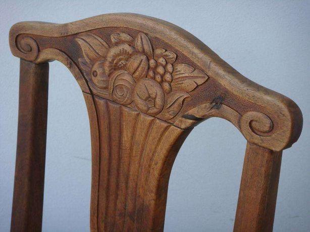 Mobila, veche Scaun, vechi, lemn, nuc