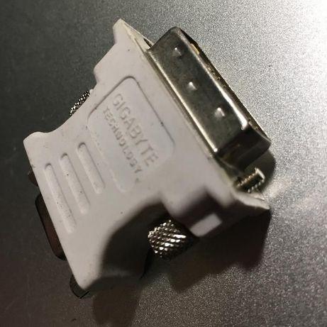 adaptor Gigabyte technology VGA (mama) la DVI (tata) nou