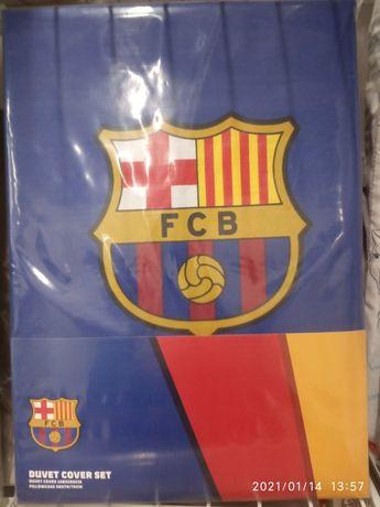РАЗПРОДАЖБА! Чисто нов памучен спален комплект FC Barcelona/Барселона