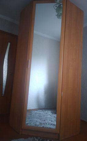 Угловой шкаф большой, вместительный, высота 2.45м