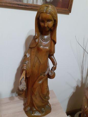Sculptura lemn de culoare maro