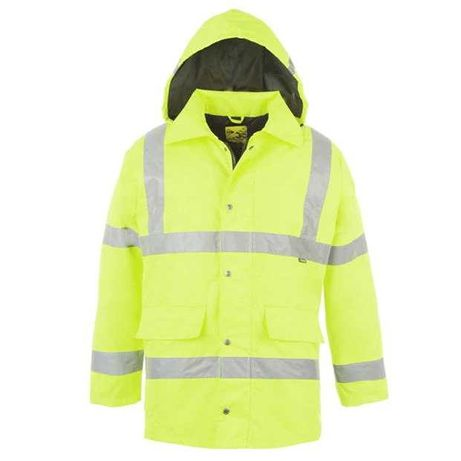 Jacheta reflectorizanta si impermeabila Dunlop Hi-Vis, Mărimea L