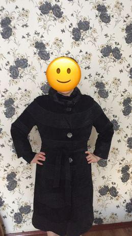 Пальто замшевый