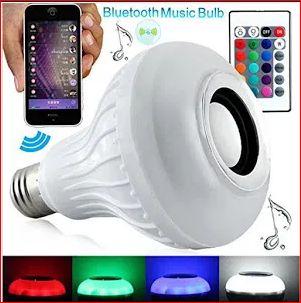 Bec Bluetooth LED Cu Boxa, Jocuri De Lumini Si Telecomanda produs nou