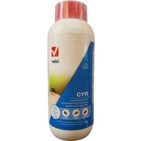 Insecticid profesional CY 10 pentru tantari, muste, gandaci 1L