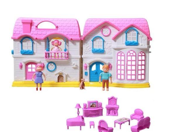 Къща за кукли кукла със звук и светлина и фигурки