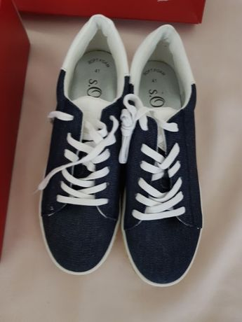 Sneakers/Pantofi S.Oliver,Denim,mar 41,NOI,interior 26,5 cm