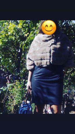Кожено палтенце от еко кожа