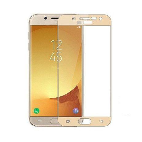 Samsung J3 J5 J7 2017 - Folie Sticla Full Size Gold, Black