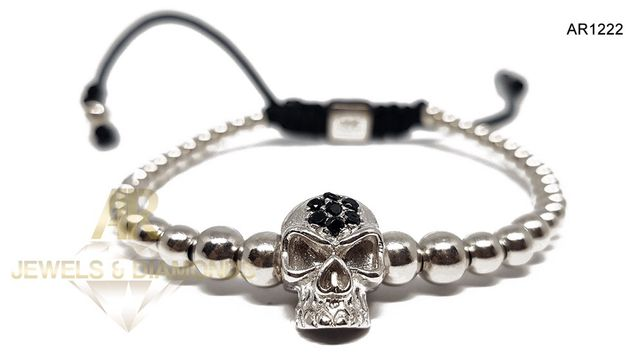 Bratara Skull Collection ARJEWELS Argint 925 placat cu AUR 18 K(AR1222